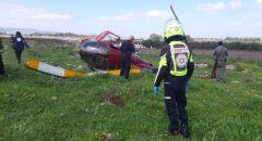 تحطّم طائرة خفيفة بمنطقة مفتوحة قرب طوبا الزنغرية يسفر عن أربع إصابات متفاوتة