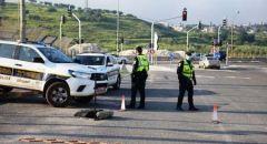 انتشار قوات الشرطة بعد اغلاق تام لقريتي دير الاسد والبعنة اثر تفشي فيروس الكورونا