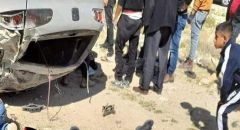 مصرع شاب اثر انقلاب مركبة على شارع 90 قرب العوجا