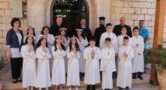 صور - الرامة : كنيسة السيدة تحتفل بعيد رقاد السيده العذراء والمناولة الاولى