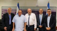 وزير المالية الجديد يجري لقاء عمل اول مع عميد بنك اسرائيل ورئيس الهستدروت ورؤساء القطاع التجاري