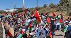 مشاركة واسعة بمسيرة الاعلام الفلسطينية الاولى في مدينة ام الفحم
