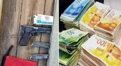 اللد : اعتقال شابين بعد ضبط أسلحة ومبلغ نقدي بقيمة عشرات الآف الشواقل أثناء تفتيش منزل