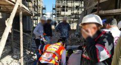 اصابة عامل (20 عاما) بجراح خطيرة اثر سقوط جسم ثقيل عليه بورشة بناء في كريات جات