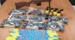 ضبط مفرقعات والعاب خطيرة في ام الفحم واحالة مشتبهة للتحقيق