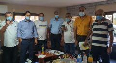الناعورة: النائب جابر عساقلة يجتمع باللجنة الشعبية المناهضة لمشروع خط الكهرباء العالي الخطير