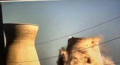 توثيق بالفيديو لحظة انهيار احد مباني التبريد في حيفا