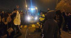 القدس : اعتقالات اثناء مسيرة احتجاجية بالقرب من المقر القطري للشرطة