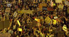 استمرار الاحتجاجات ضد نتنياهو والحكومة واعتقالات بشبهة الاخلال بالنظام