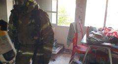 اندلاع حريق داخل شقة سكنية في مدينة عكا