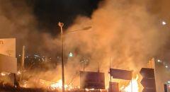 اندلاع حريق قرب مدخل قرية ساجور