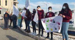 مجد الكروم: بمبادرة من شبيبة اجيك وقفة احتجاجية ضد العنف والجريمة
