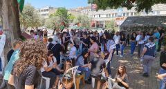 الناصرة: نصب خيمة تضامن في ساحة العين نصرة للقدس والاقصى وغزة ضمن نشاطات الاضراب العام