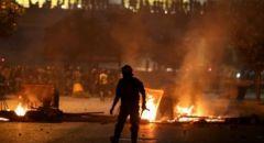 بيروت : مواجهات وتحطيم محال تجارية واضرام النار فيها
