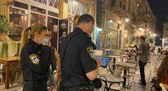 مخالفات مالية لمواطنين وأصحاب مطاعم بسبب عدم الالتزام بتعليمات الكورونا في حيفا والمنطقة