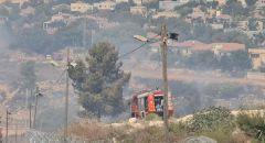 إندلاع حريق في كفار اورنيم قرب الضفه الغربيه اخلاء منازل وعدم السيطرة على النيران
