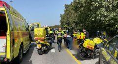 اصابة سائق دراجة نارية بجراح متفاوتة جراء حادث قرب كفرقاسم