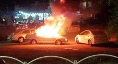 منطقة حيفا ,,, احتراق مركبات واخلاء عمارة سكنية