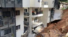 انهيار جدار على مبنى في مدينة حيفا