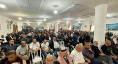 عرعرة النقب : اجتماع حاشد للمشتركة يتحول إلى مهرجان شعبي ومشاركة المئات