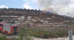 اندلاع حريق في منطقة اشواك قرب الضفة