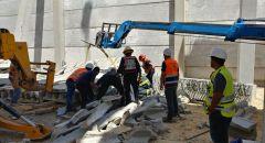 تخليص شخص بعد انهيار مبنى في المنطقة الصناعية تسرعا (منطقة القدس)