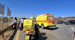 إصابة سائق دراجة نارية في حادث طرق ذاتي بمنطقة طبريا