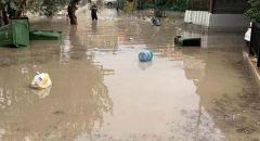 اثر تساقط الأمطار بغزارة غرق شوارع في أم الفحم، باقة الغربية ودالية الكرمل