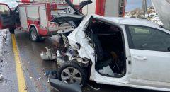 مصرع امرأة واصابة 5 اخرين احدهم بحالة خطيرة اثر حادث طرق على شارع 60