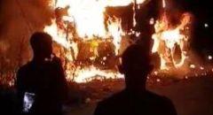 الشرطة تحقق في إحراق شاحنة في البعينة نجيدات تعود ملكيتها لشخص من بلدة طرعان