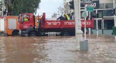 نهاريا: الشرطة تغلق جميع مداخل المدينة وطواقم الاطفاء والانقاذ يعملون على تخليص عالقين