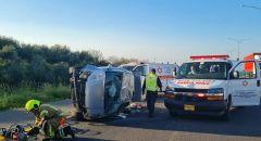 5 اصابات في حادث طرق قرب باقة الغربية