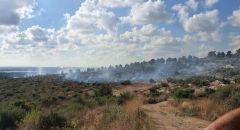 اندلاع حريق بمنطقة اشواك وعريه في زيمر