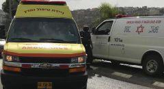 اصابة عاملين سقط عليهما جسم ثقيل بورشة بناء في كريات يام
