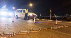 الشرطة تنصب حاجزا امنيا  بين الطيبة والطيرة وازدحامات مرورية في المكان