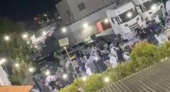 شجار وإلقاء كراسي على رجال الشرطة بحفل زفاف في طوبا الزنغرية وإعتقال مشتبهين