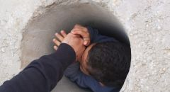 دالية الكرمل: تخليص طفل علق داخل مكعب اسمنتيّ