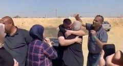 الأسير محمد محاجنة يعانق الحرية بين اهله في ام الفحم