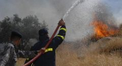 حريق بمنطقة وعرية قرب مجد الكروم