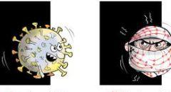 """صحبفة """"الجمهورية"""" اللبنانية تنشر كاريكاتير يشبه الفلسطينيين بالكورونا"""