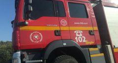 اندلاع حريق كبير في مساحات مفتوحة في مدينة جديرا