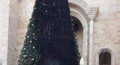 شجب وإستنكار من بلدية سخنين واللجنة الشعبية بحرق شجرتي عيد الميلاد في كنيستي سخنين