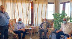 الدكتور داوود الزعتري يلتقي د صفوت ابو ريا رئيس بلدية سخنين