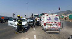 الرامة: حادث طرق بين سيارتين واصابات طفيفة