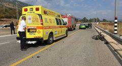 الشمال: إصابة خطيرة لراكب دراجة هوائية بعد أن صدمته سيارة على شارع 90