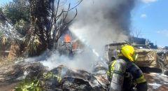 اندلاع حريق داخل مبانٍ وسيارات في باقة الغربية