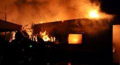 قرية صرّة : وفاة أم وثلاثة من أطفالها بحريق بمنزلهم