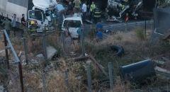 الرامة: حادث طرق بين شاحنتين يسفر عن 4 اصابات