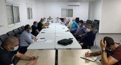 غرفة طوارئ الحركة الإسلامية ونوابها يجتمعون في كفر كنا ويتواصلون مع السلطات المحلية المتضررة من الحرائق