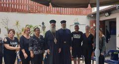 سيادة المطران عطا الله حنا يزور مدينة يافا معزيا بوفاة الشاب جورج قبطي الناشط في حركة الكشاف الارثوذكسي في يافا